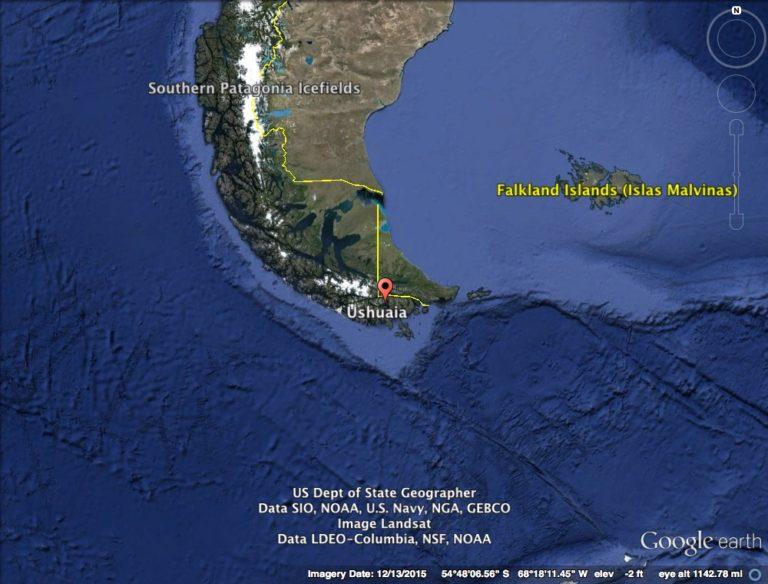 Ushuaia Map