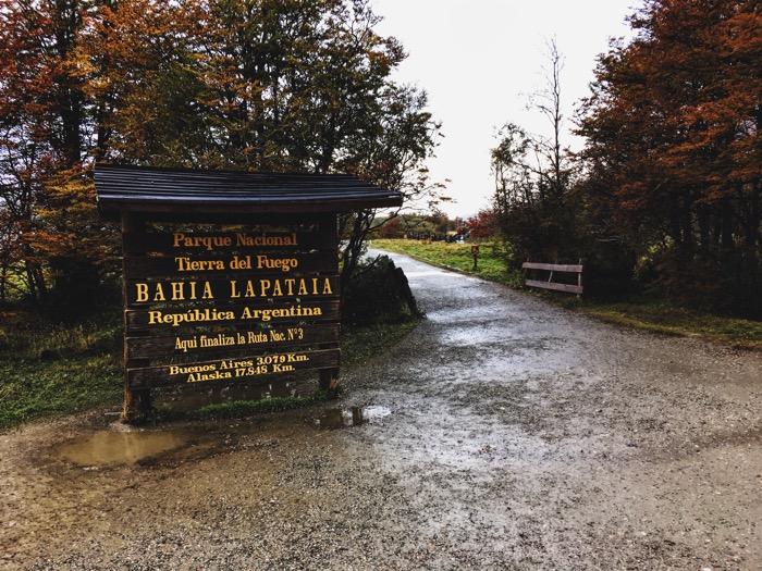 Bahia Ushuaia Sign