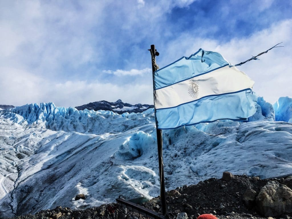 Argentina Flag in the Breeze