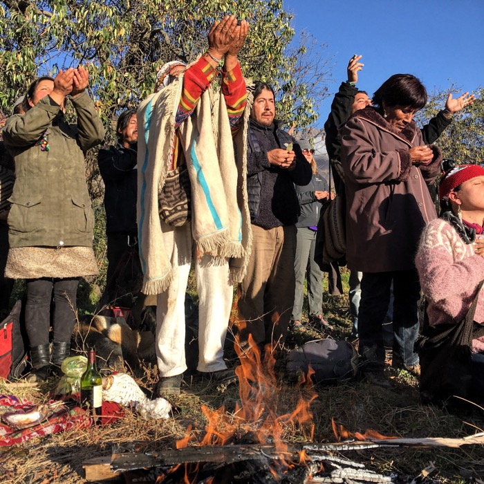 Holy Man Leads Ceremony