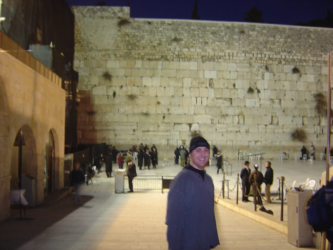 Will at the Wailing Wall