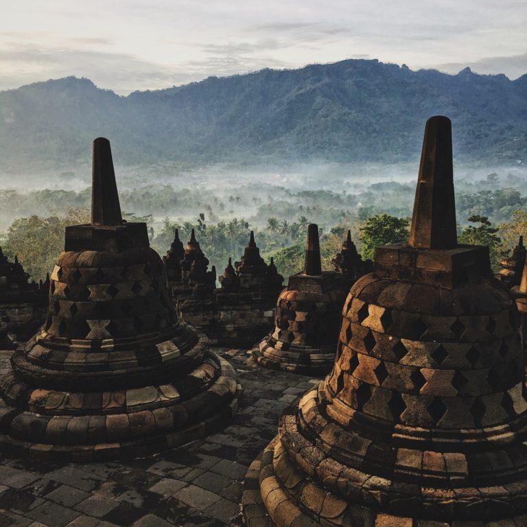 Pagodas back