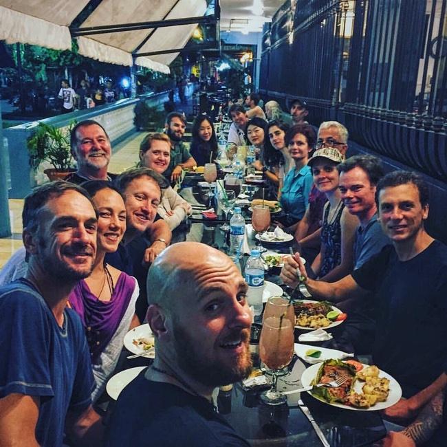 The Temple crew, post-retreat