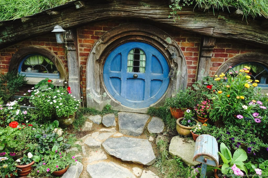 A Hobbit hole and garden.