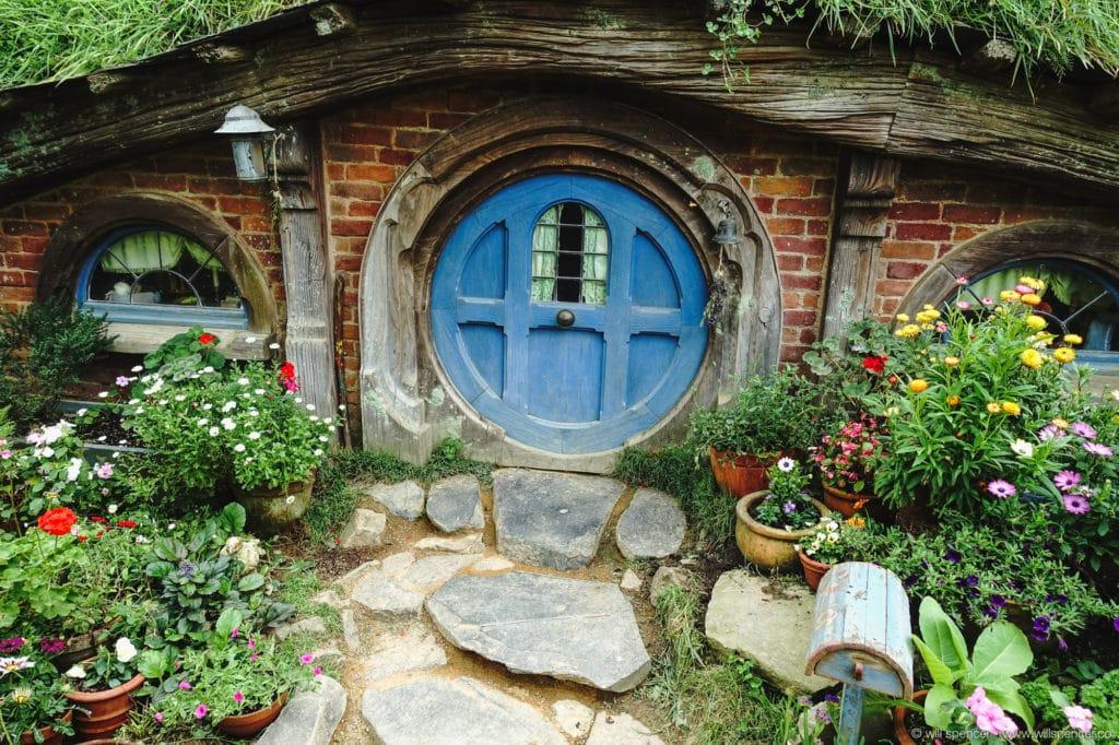 A Hobbit hole and garden.