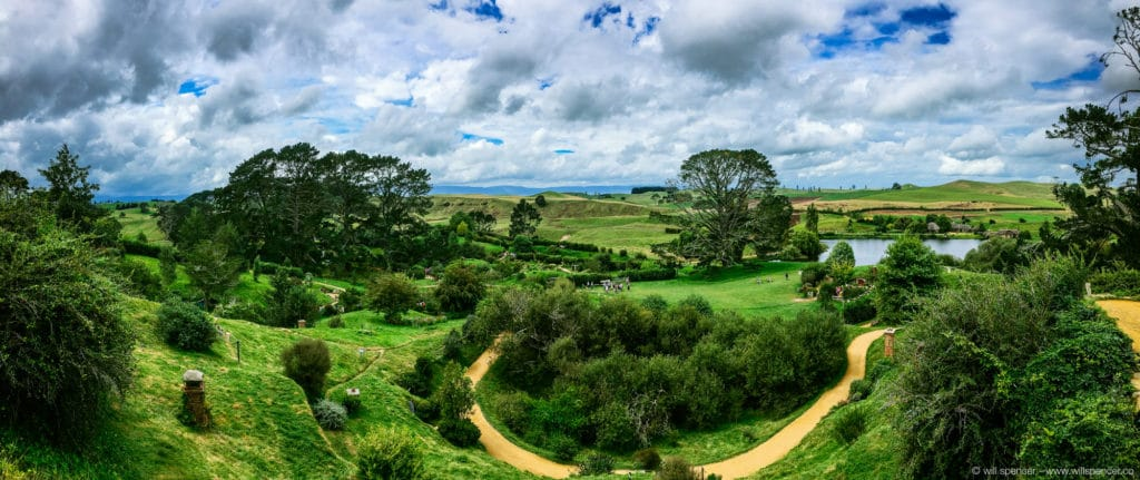 Hobbiton overview panorama
