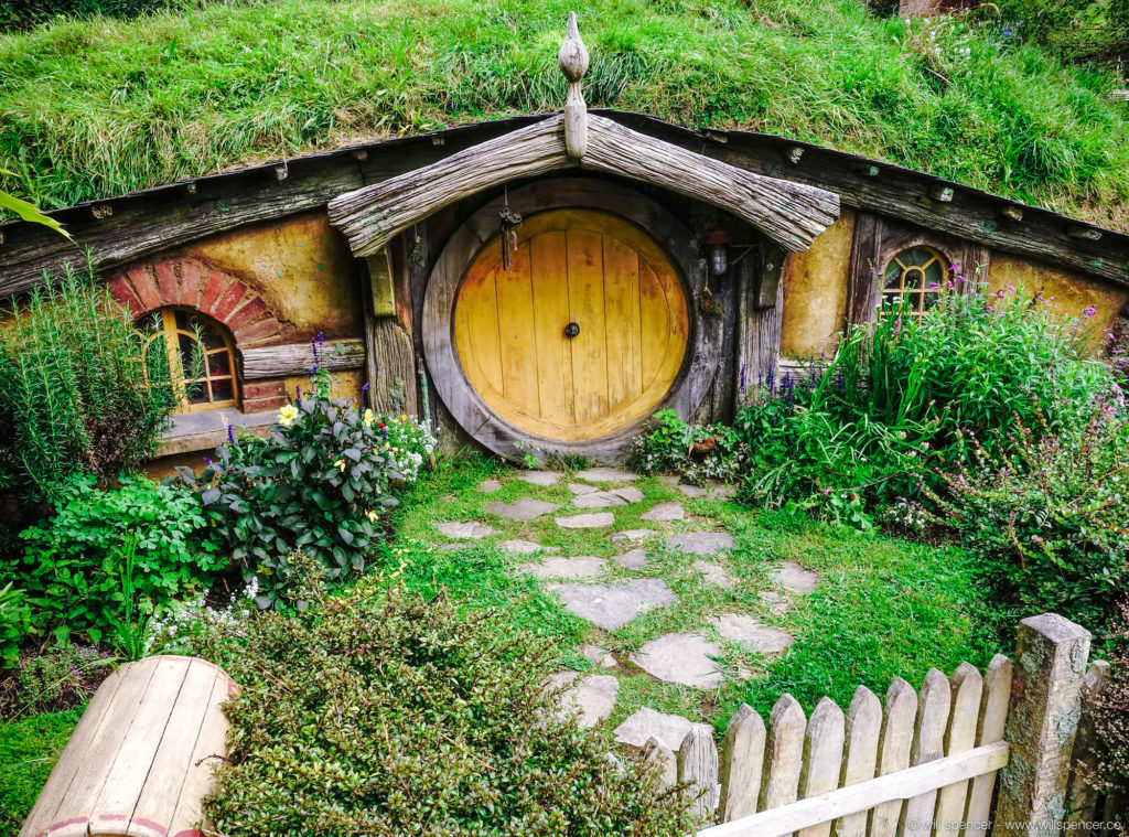 One of the famous Hobbit holes
