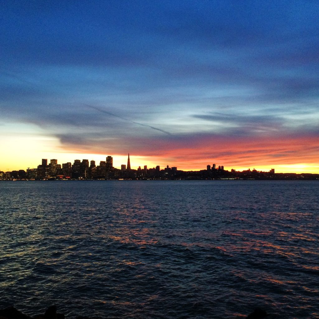 Sunset view from Treasure Island, San Francisco, my neighborhood.
