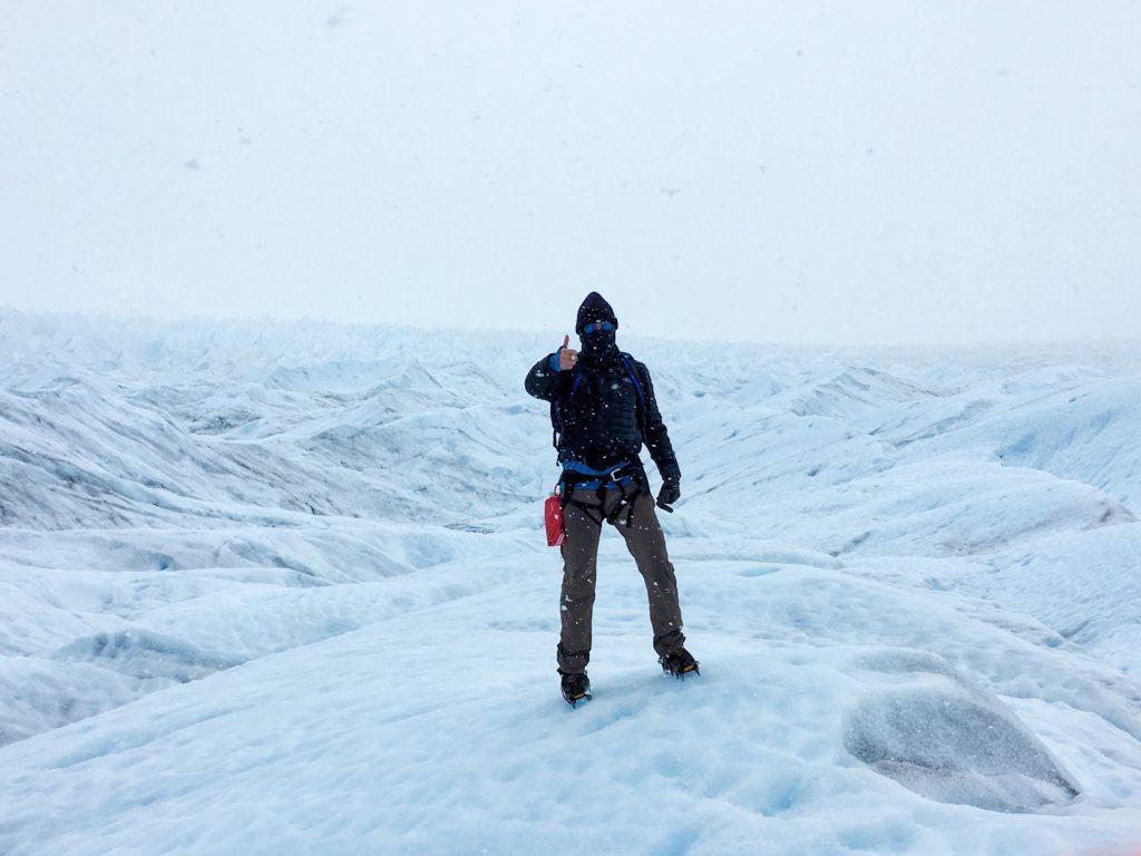 Me, on the Perito Moreno glacier in Patagonia, Argentina.