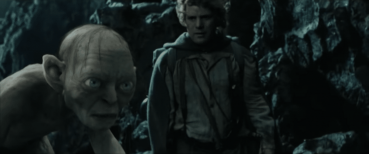 Sam and Gollum