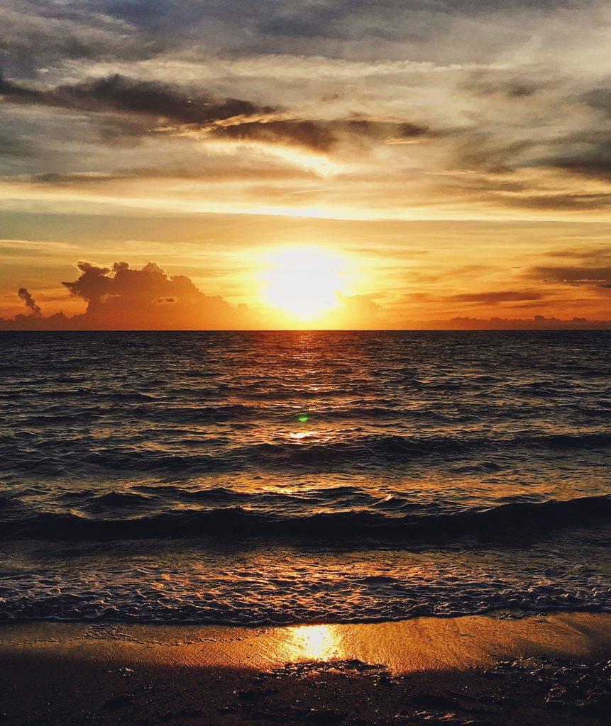 Sunrise over Fiji