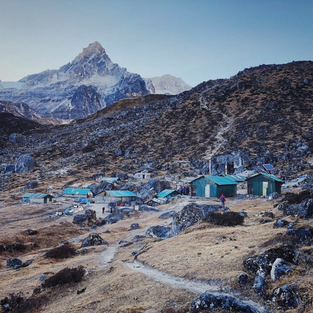 HMI Base Camp, another view, with Mount Frey.