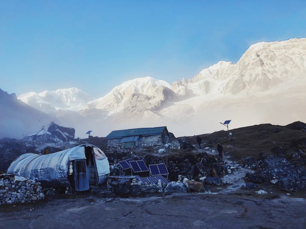HMI Base Camp, and the mountains above.