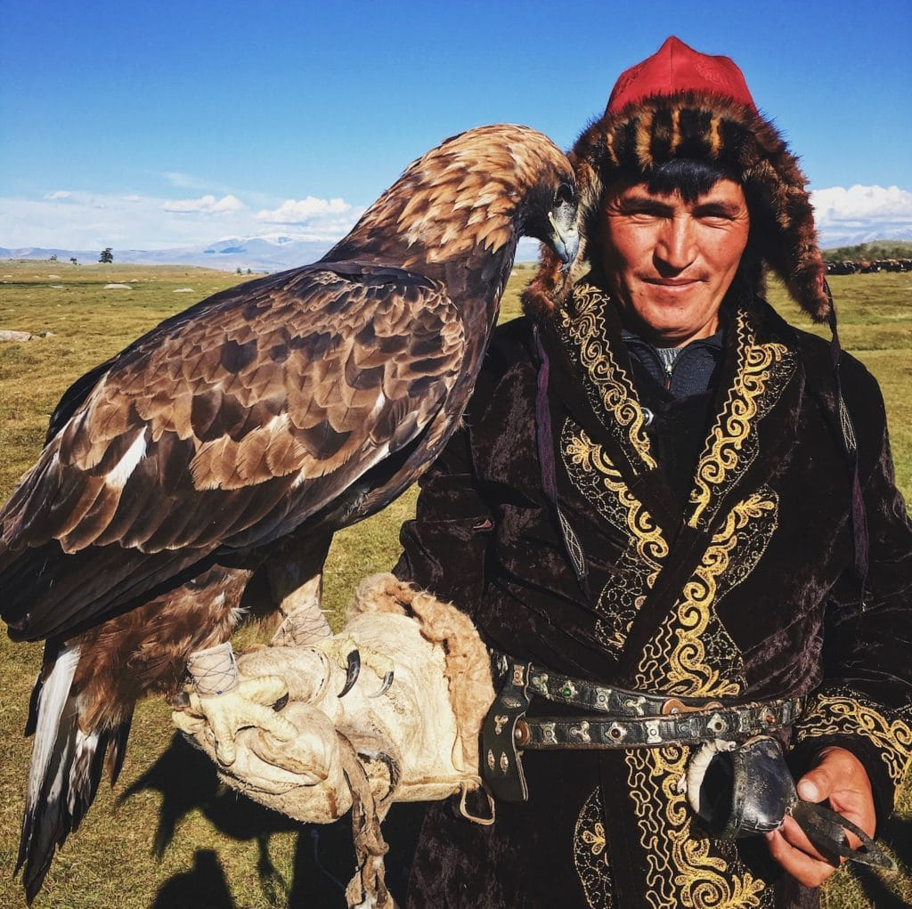 Eagle hunter and eagle