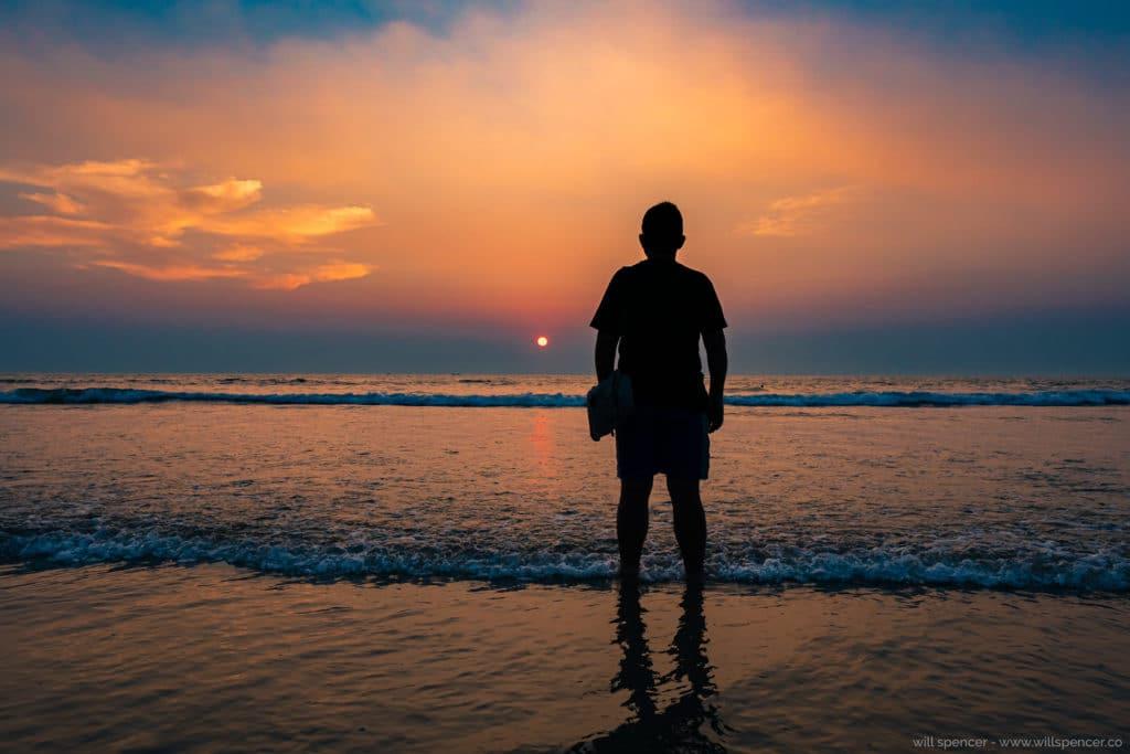 Man on beach in Goa