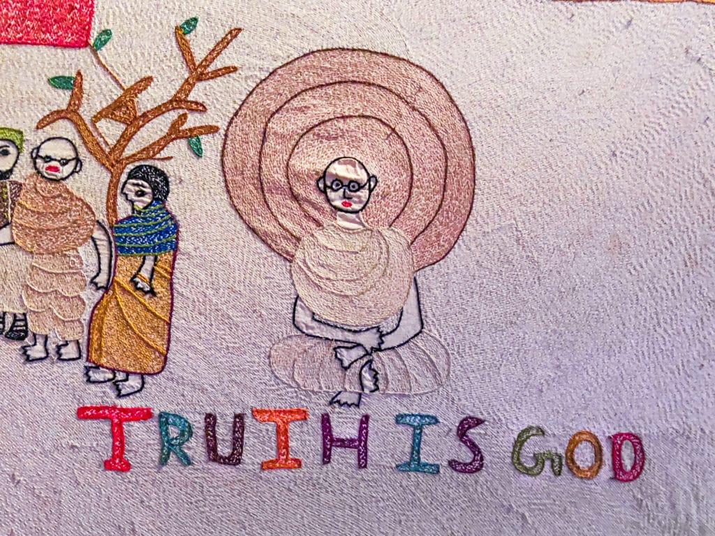 Gandhi tapestry